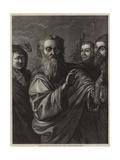 Diogenes Seeking for an Honest Man Giclée-tryk af Salvator Rosa