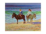 Two Children on Donkeys Giclee Print by Robert Tyndall