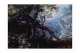 Forest with Deer, C.1608-10 Giclee Print by Roelandt Jacobsz. Savery