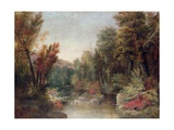 Fall Fisherman Giclee Print by Robert Scott Duncanson