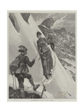 Mountaineering in the Tyrol, Turning a Corner Giclee Print by Richard Caton Woodville II