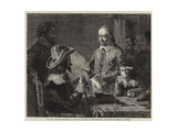Harvey Demonstrating to Charles I His Theory of the Circulation of the Blood Giclee Print by Robert Hannah