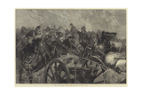The War in Egypt, Horse Guards Charging the Enemy's Guns Giclee Print by Richard Caton Woodville II
