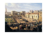 Inauguration of the Naples-Portici Railway, October 3, 1839 Giclee Print by Salvatore Fergola