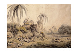 Hunting Kuttauss or Civet Cat Giclee Print by Samuel Howitt