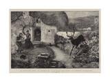 An Uninvited Guest, an Incident of a Day with Devon and Somerset Staghounds Giclee Print by Robert Walker Macbeth