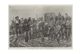 Cronje's Surrender, Burghers Delivering Up Arms after Paardeberg Giclee Print by Richard Caton Woodville II