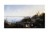 Opening of Railway Line from Naples to Portici, 1840 Giclee Print by Salvatore Fergola