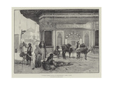 At Sultan Ahmed's Fountain in Constantinople Giclee Print by Rudolphe Ernst
