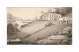 Incline Boat Carried to an Upper Canal Level, 1797 Giclee Print by Robert Fulton