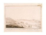 View of the Fortified Town and Palace of Piombino, 1812 Giclee Print by Salomon Guillaume Counis