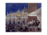 Florian, Piazza Di San Marco Giclee Print by Rosemary Lowndes