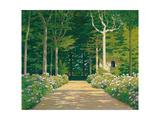 Santiago Rusinol i Prats - Hydrangeas on a Garden Path, 1929 Digitálně vytištěná reprodukce