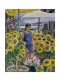 The Sunflower Seller Giclee Print by Rosemary Lowndes