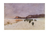 Winter at Loch Ard Giclee Print by Sir Alfred East