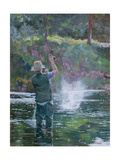 Fly Fishing Giclee Print by Rosemary Lowndes