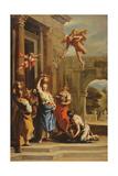Mercury, Herse and Aglauros Giclée-tryk af Sebastiano Ricci