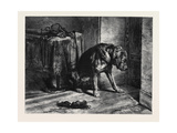 Suspense, in the South Kensington Museum Giclee Print by Edwin Landseer