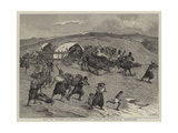 With the Russians, Bulgarian Peasantry Fleeing from Circassian Irregulars Giclee Print by Samuel Edmund Waller