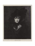 The Fair Widow Giclee Print by Simon Jacques Rochard