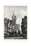 St. Pierre Caen, in the Exhibition of the Society of Painters in Water Colours 1868 Giclee Print by Samuel Read
