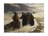Road to Siberia Giclee Print by Sergei Dmitrievich Miloradovich