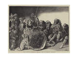 Royal Humility, Washing Beggars' Feet on Maundy Thursday Giclee Print by Sir James Dromgole Linton