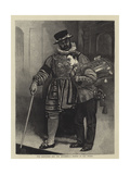 The Beefeater and the Drummer, a Sketch in the Tower Giclee Print by Sir James Dromgole Linton