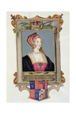 Portrait of Anne Boleyn (1507-36) 2nd Queen of Henry Viii Giclee Print by Sarah Countess Of Essex