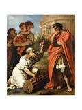 Tarquin the Elder Consulting Attius Navius, C.1690 Giclée-tryk af Sebastiano Ricci