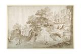Roman Ruins, 1601 Giclee Print by Sebastian Vrancx