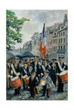 Town Hall Band, 14th July, Honfleur, France, 1997 Giclee Print by Rosemary Lowndes