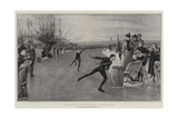 Winter Sport in the Fen Country, a Skating Match Giclee Print by Robert Walker Macbeth