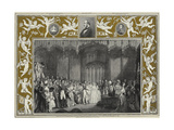 The Marriage of Queen Victoria and Prince Albert of Saxe-Coburg and Gotha at St James's Palace Giclee Print by Sir George Hayter