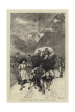 Returning from Work, a Sketch in the Tyrol Giclee Print by Hubert von Herkomer
