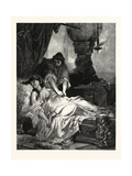 Iachimo and Imogen, William Shakespeare's Play Cymbeline Giclee Print by Sandor Liezen-Meyer