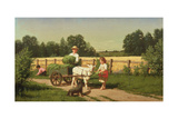 The Goat Cart, 1882 Giclee Print by Samuel S. Carr