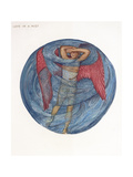 The Flower Book: I, Love in a Mist, 1905 Giclee Print by Sir Edward Coley Burne-Jones