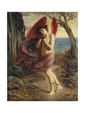 Love in Autumn Giclee Print by Simeon Solomon