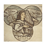Design for Stained Glass in Lyndhurst Church: an Angel Organist, 1886 Giclee Print by Sir Edward Coley Burne-Jones