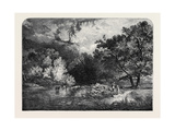 Exhibition of the National Institution, A Woodland River Giclee Print by Sidney Richard Percy