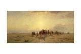 Caravan in the Desert, 1878 Giclée-tryk af Samuel Colman