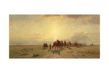 Caravan in the Desert, 1878 Giclee Print by Samuel Colman