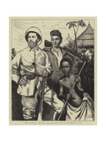 Mr Stanley, His Boy Kalulu, and the Interpreter Selim Giclee Print by Sir James Dromgole Linton