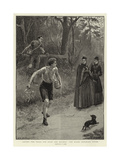 Laying the Trail for Hare and Hounds, the Hares Breaking Cover Giclee Print by S.t. Dadd