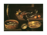Still Life with Fish and a Duck Giclee Print by Sebastian Stoskopff