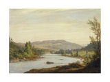 Landscape with River (Scene in Northern New York), 1849 Giclee Print by Sanford Robinson Gifford