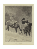 Lost in the Snow Giclee Print by Sir James Dromgole Linton