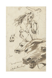 Study of Rider and Head of a Horse, 1620-1 Giclee Print by Sir Anthony van Dyck