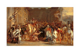 The Entrance of George IV (1762-1830) at Holyroodhouse, 1828 Giclee Print by Sir David Wilkie